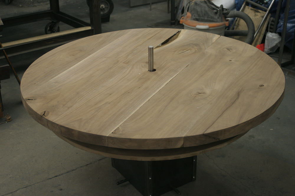 50 inches diameter Rotating Platform made out of Walnut wood